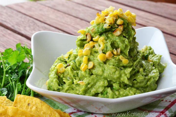 Grilled Corn & Poblano Guacamole | Katie's Cucina | Katie's Cucina