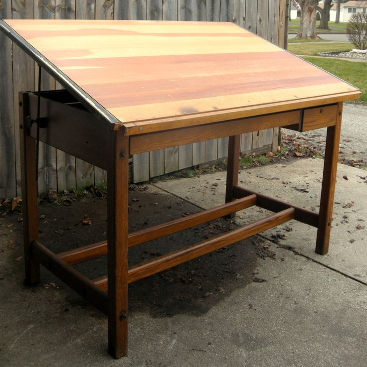 beautiful solid wood vintage drafting table lovely