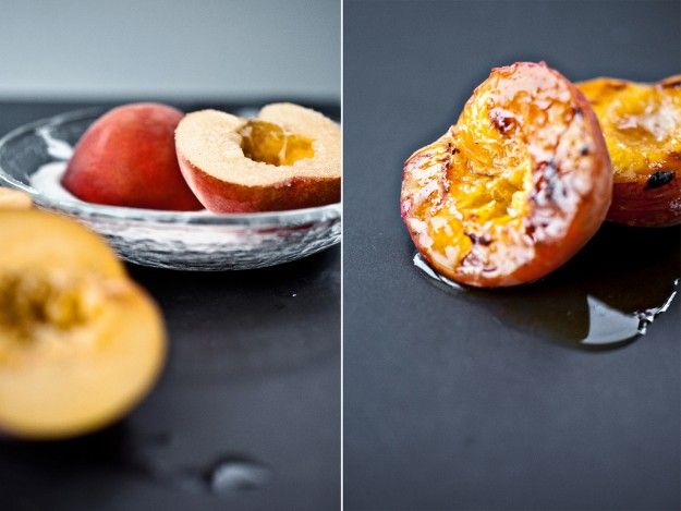 Broiled peaches. I'm pretty sure this is what Heaven tastes like.