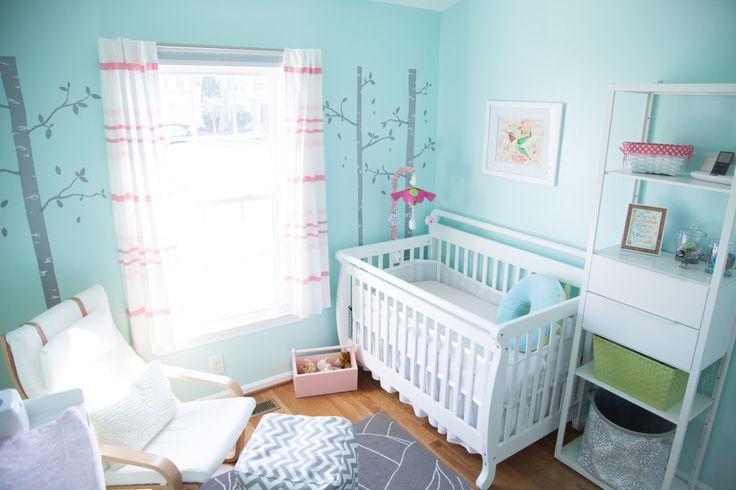 Aqua and Pink Nursery
