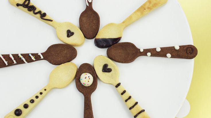 How to Make Shortbread Spoon Cookies! | Galletas, pop cakes y bocados ...