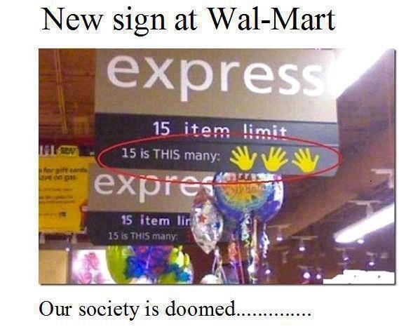 New sign at Wal-Mart