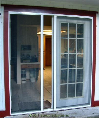 French doors retractable screens decoration design for Screen doors for french doors