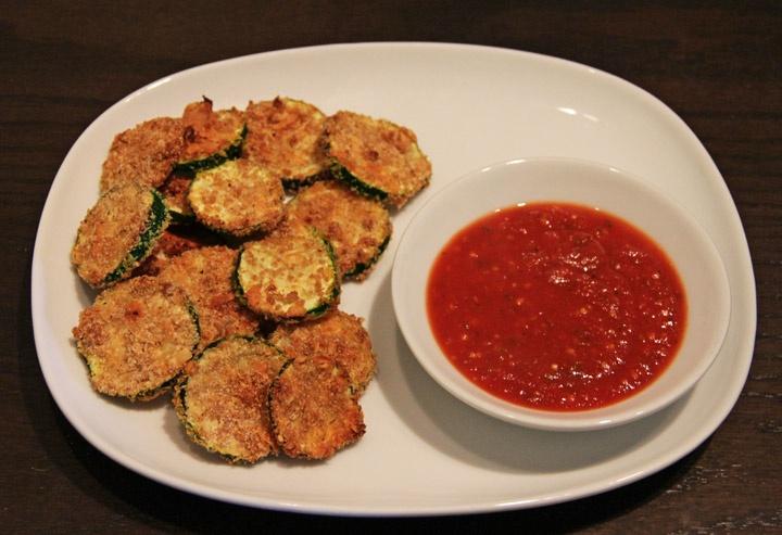 Parmesan Encrusted Zucchini with Fat-free Marinara Sauce....Reagan & I ...