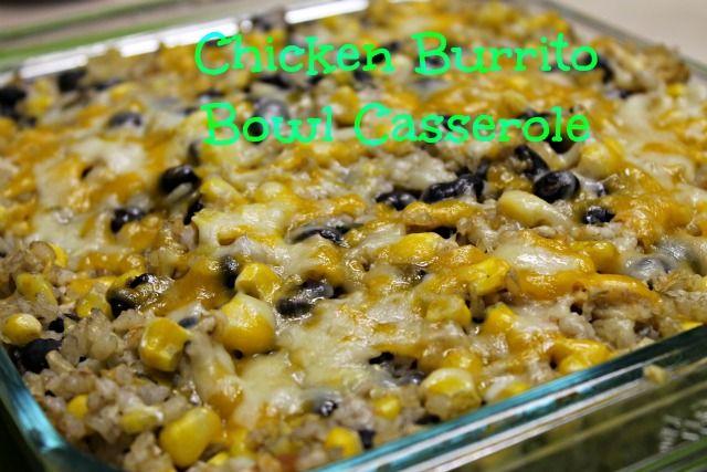 ... Casserole....has chicken, black beans, corn, brown rice, salsa and