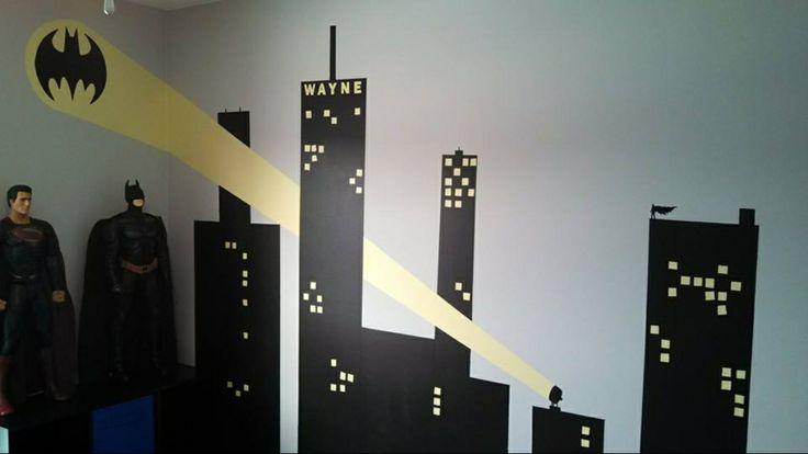 gotham city skyline bat signal tattoo traffic club