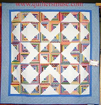 Cool Layout Of Log Cabin Block Quilting Pinterest