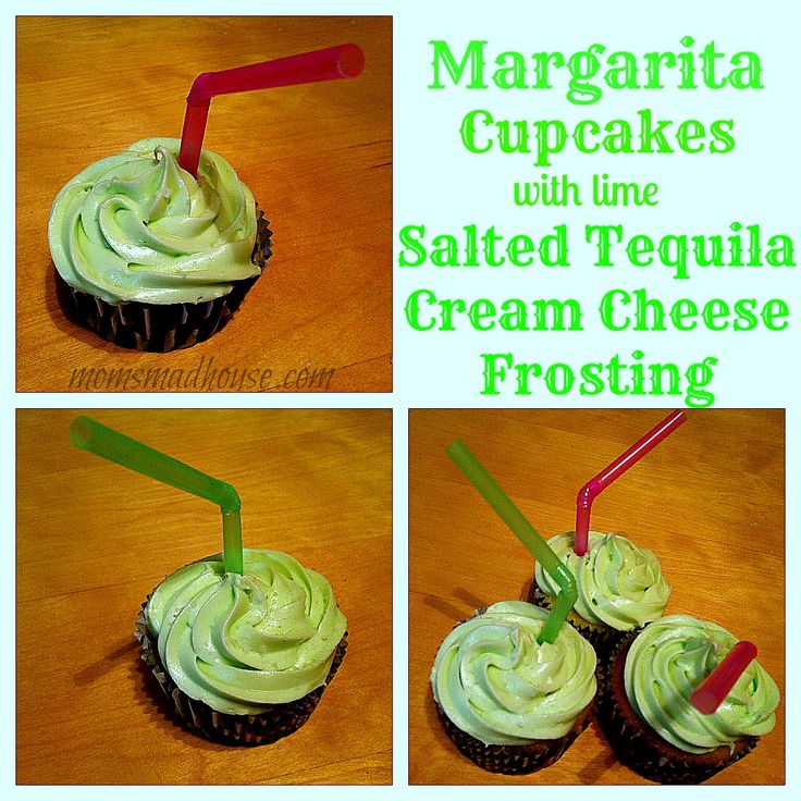 Margarita Cupcakes with Lime Salted Tequila Cream Cheese Frosting | R ...