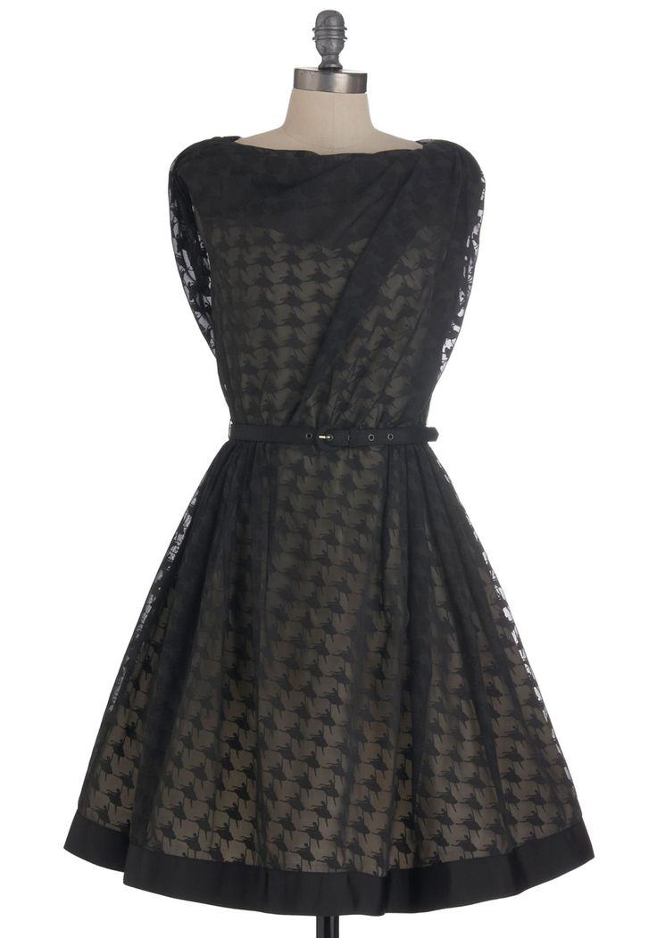 Look closely - the polka dot print on this dress is actually little ballerinas!