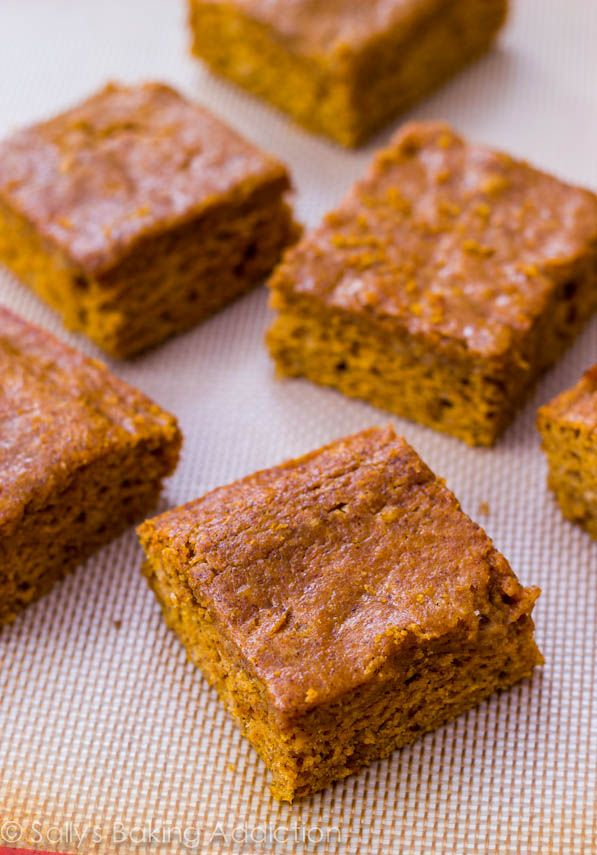 Easy Pumpkin Spice Bars - lightened up with less sugar and fat ...