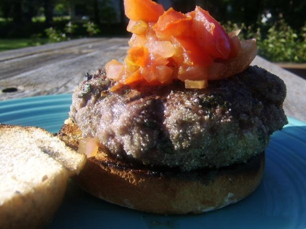 Aussie Lamb Burgers With Goat Cheese and Tomato Relish | Recipe