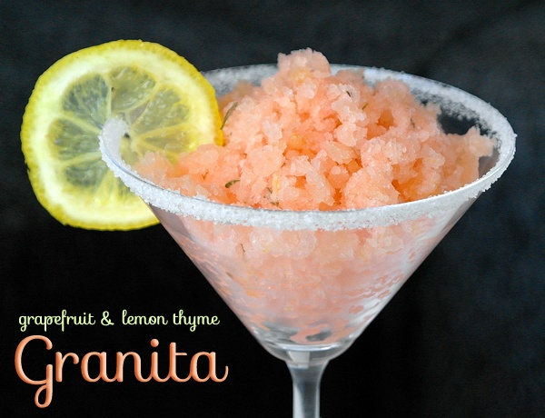 Grapefruit & Lemon Thyme Granita