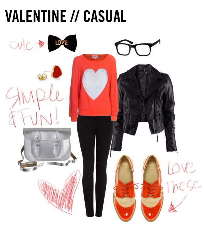casual valentines outfit idea