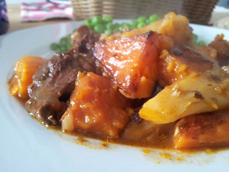 Oliver's beef stew with sweet potatoes, squash, carrots and parsnips ...