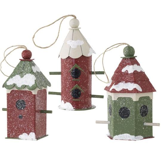 Birdhouse Christmas Tree Ornaments : Quot birdhouse ornament christmas