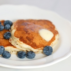 Healthy Bran Pancakes - Hearty, healthy, high fiber bran pancakes are delicious hot, or cold the next day.