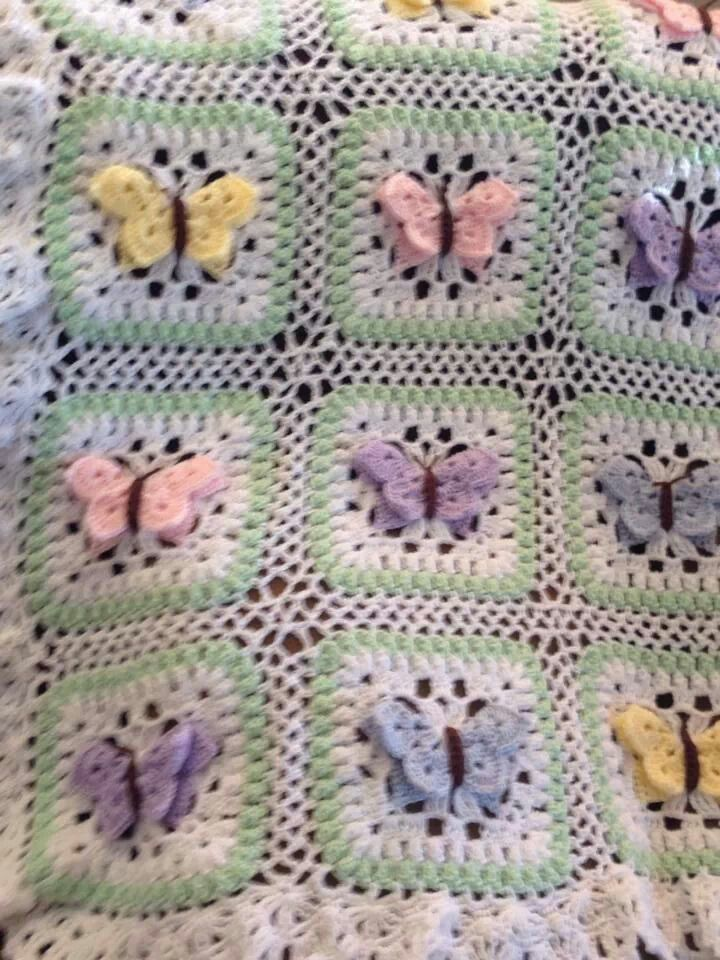 Butterfly Crochet Afghan Pattern Free : Butterfly afghan Crochet items I would like 2 make ...