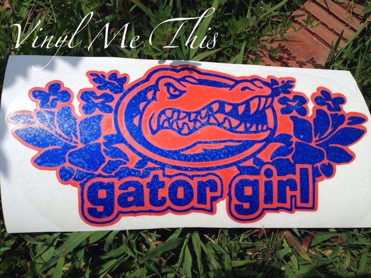 Gator girl vinyl car decal | My vinyl creations