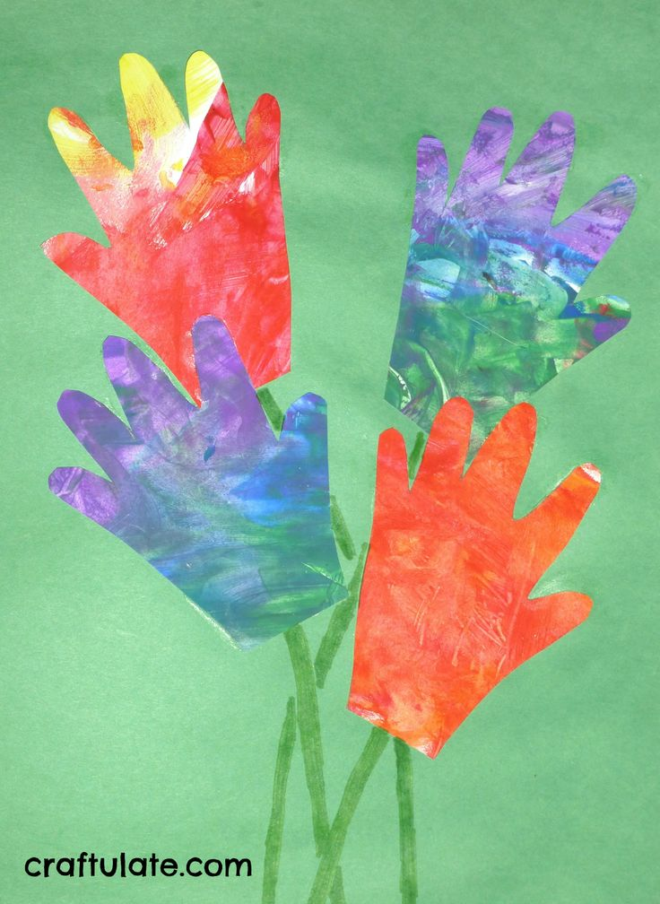 Handprint painting | Easter crafts and decorations | Pinterest