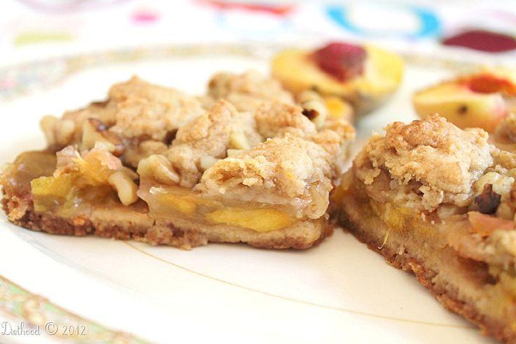 More like this: peach crumb bars and peach bars .