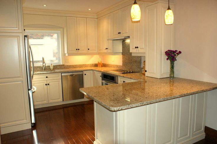 Peninsula modern white kitchen ideas house pinterest - White kitchen with peninsula ...
