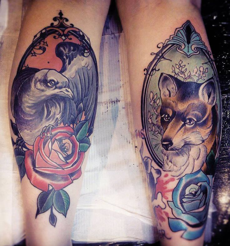 Birds and roses are predominant themes in Tiny Miss Becca's tattoos ...