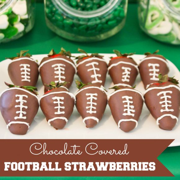 Chocolate Covered Football Strawberries #chocolate #football # ...