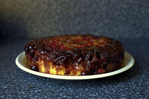 upside-down cranberry cake   Desserts   Pinterest
