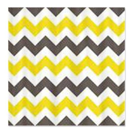 Gray and Yellow Chevron Shower Curtain  For the Home  Pinterest