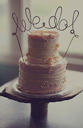 Etsy & Nordstrom Present: 'We Do' Rustic Wedding Cake Topper