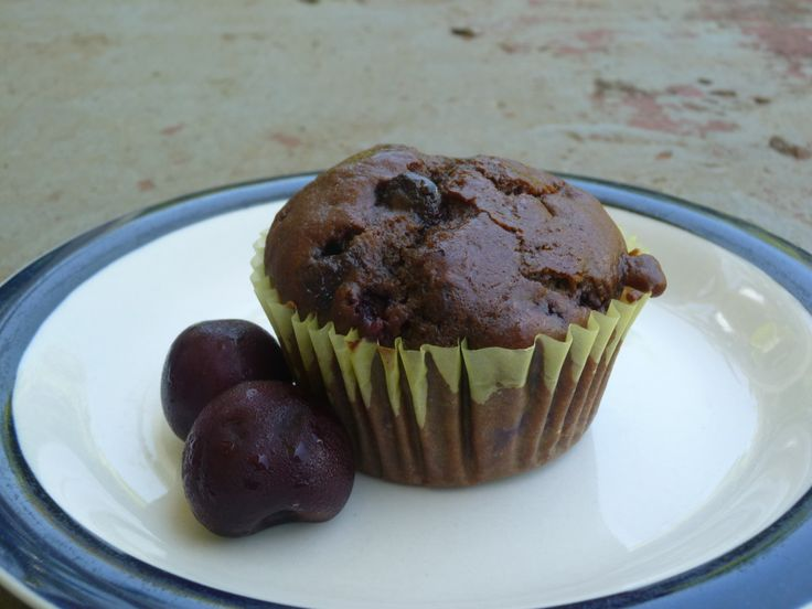 Double Chocolate Cherry Muffins | Desserts #1 | Pinterest