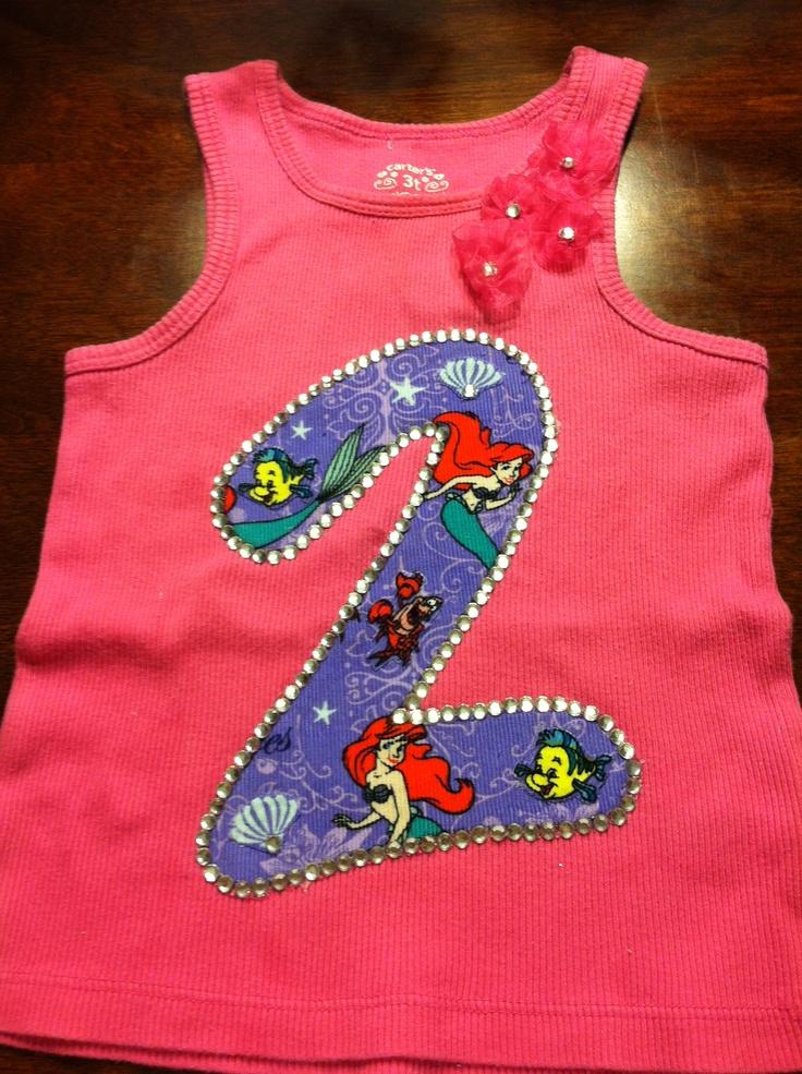 Ariel birthday shirt emma bday 2013 pinterest