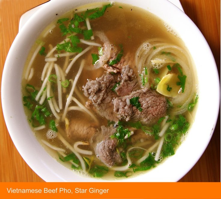 Vietnamese Beef Pho Noodle Soup - Niman Ranch beef, fresh rice noodles ...