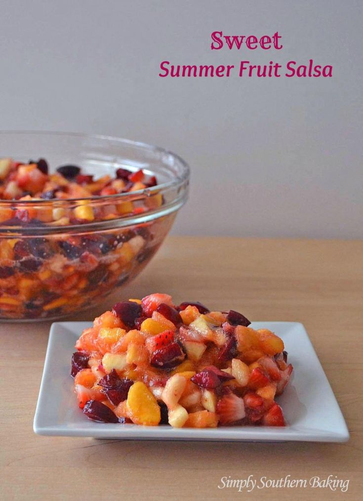 Sweet Summer Fruit Salsa | Simply Southern Baking