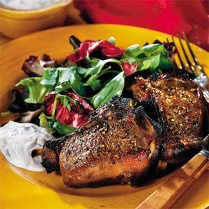 Maple-Glazed Lamb Chops With Zesty Horseradish Sauce | MyRecipes.com ...