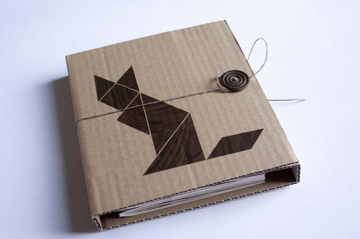 notizbuch pappe tangram fuchs xxl. Black Bedroom Furniture Sets. Home Design Ideas