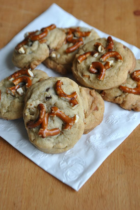 Chocolate Dipped Almond Pretzel Cookies Recipes — Dishmaps