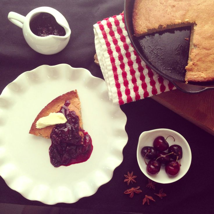 honestly delicious: Paleo Dutch Baby with Star Anise Cherry Compote