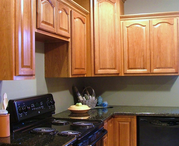 Hickory cathedral cabinets dream kitchens pinterest for Cathedral style kitchen cabinets