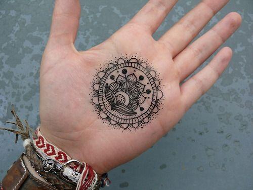 Black Mehndi Tattoo : Henna tattoo black ink tattoos blackwork