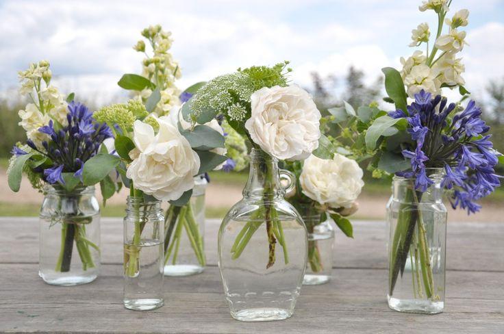 Flower Filled Jam Jars