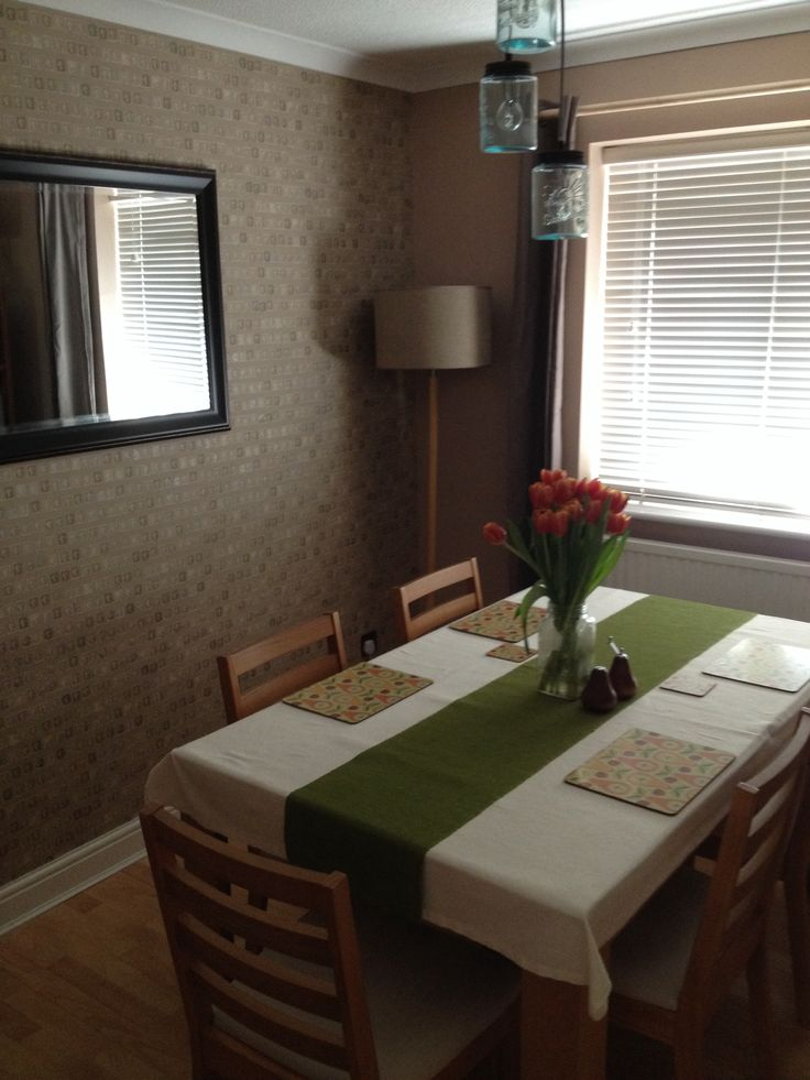 Dining room table and chairs from argos jam jar lights for Dining chairs t k maxx