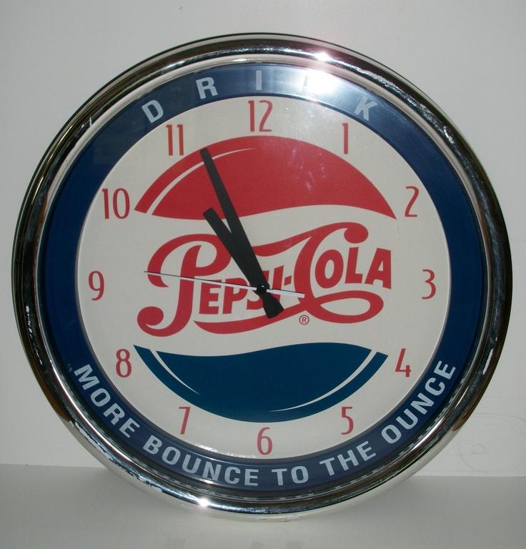 Pepsi clock time for a soda pinterest