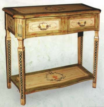 Hand Painted Buffet Table Emulate On China Cab