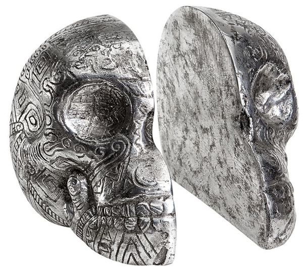 Zio Ziegler Skull Bookends