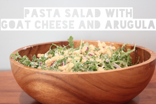 pasta salad with goat cheese and arugula | delish | Pinterest