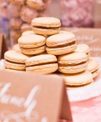 dulce de leche filled French macarons | One Girl Cookie Bars | Pinter ...