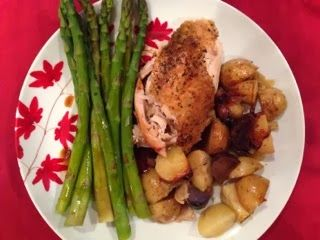 with Fingerling Potatoes and Asparagus in a Balsamic Honey Glaze ...