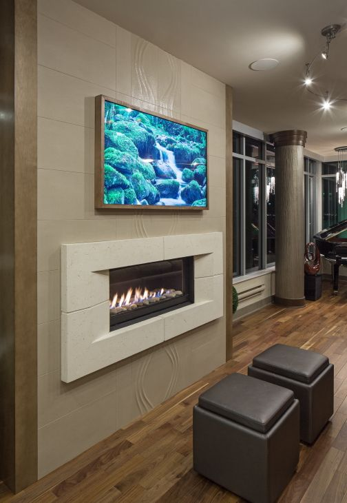 Fireplace and tv on he same wall fireplace with no for Fireplace and tv wall design ideas