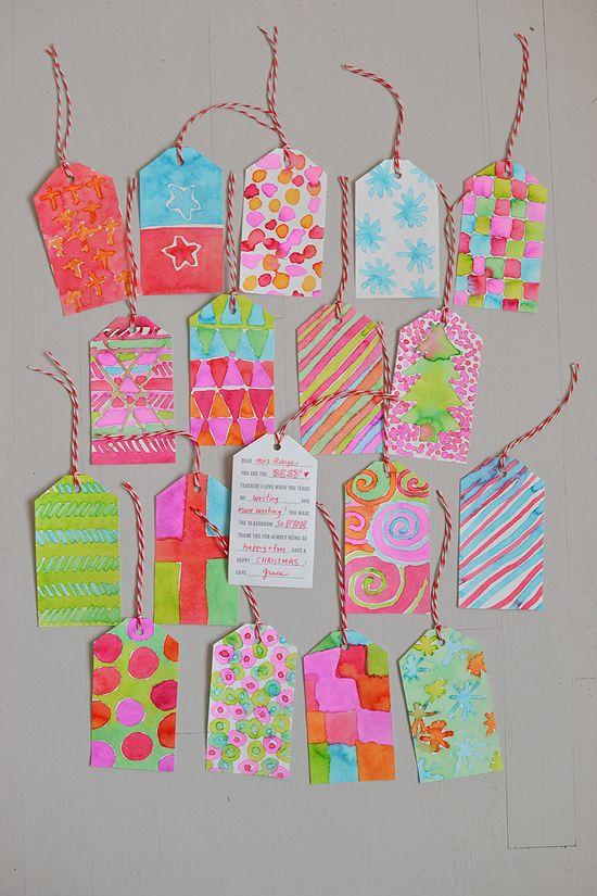 DIY: painted teacher gift tags {printable template} | art bar on @Mari (smallforbig.com)